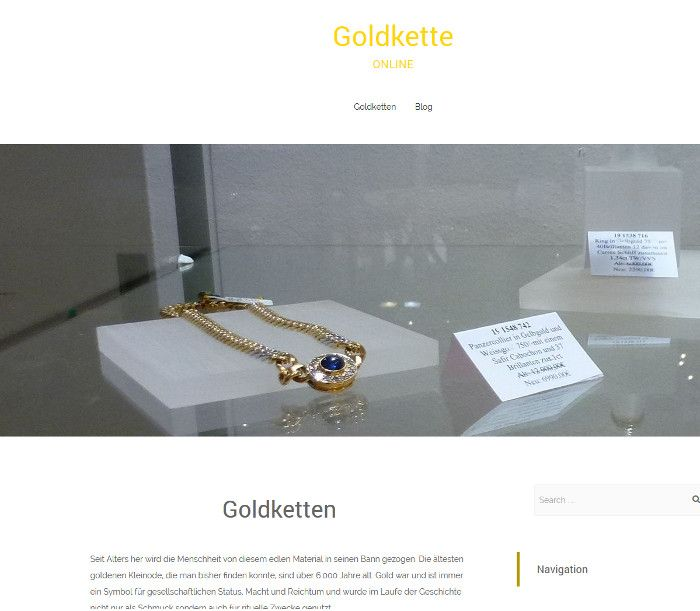 Wordpressblog - Thema Goldketten