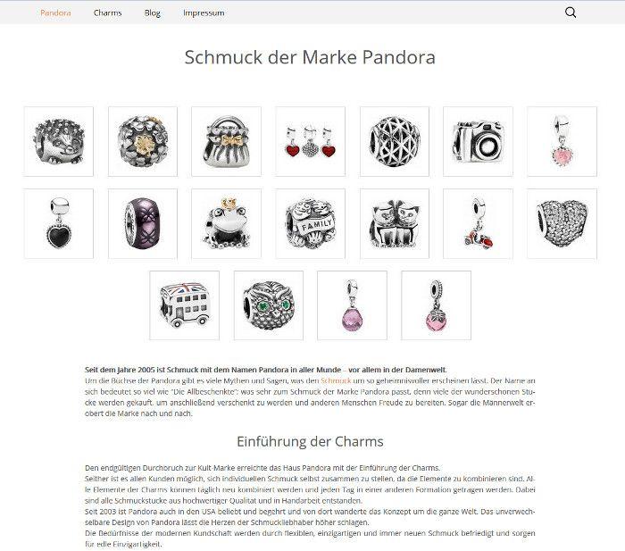 Schmuck der Marke Pandora in Stuttgart